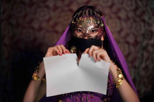 Female fortune teller breaking hair