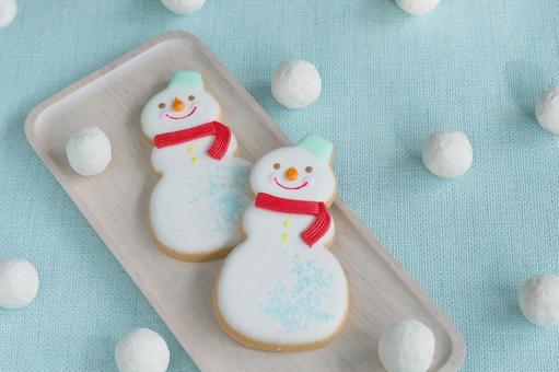 雪人的饼干