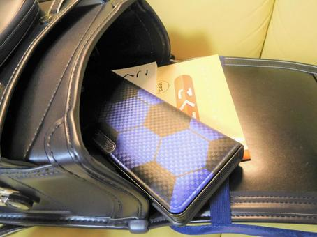 Contents of school bag (boy)