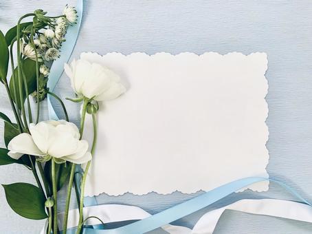 Something blue flower frame