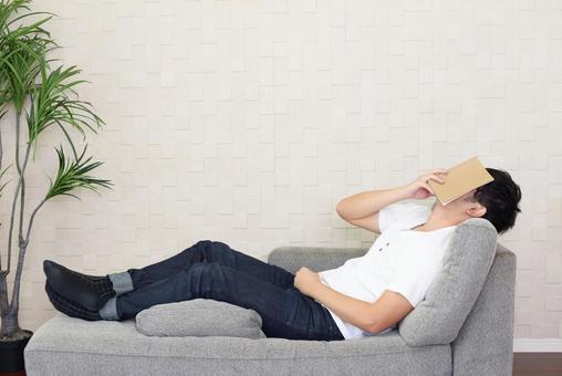 A man taking a nap