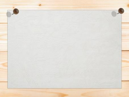 White drawing paper with white wood grain Pinning background material