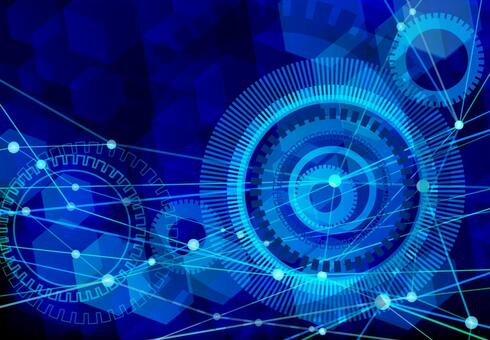 Blue network technology abstract background material