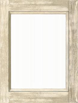 고풍스러운 흰색 나무 프레임   배경 소재