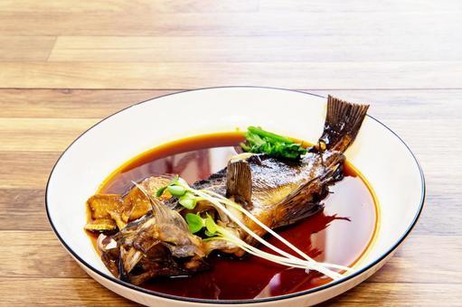 Boiled rockfish