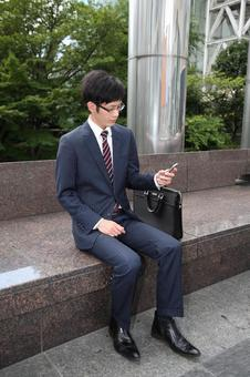 Businessman to mail e-mail 1