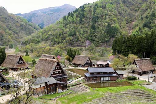 그리운 풍경 '고카 야마」(도야마 현)