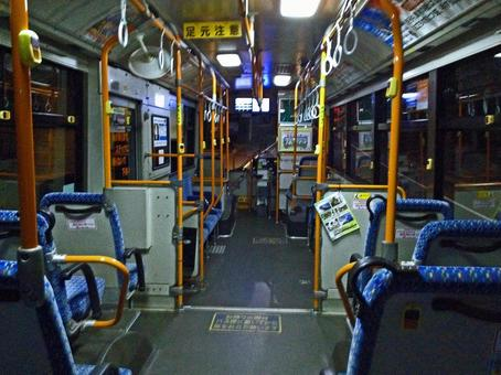 Late night bus lonely