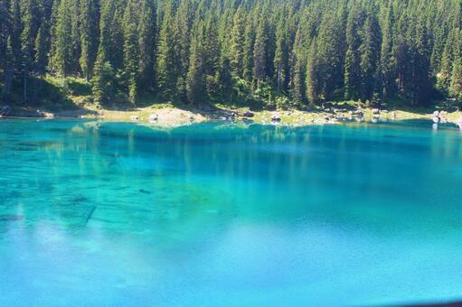 Hidden scenic spot Dolomites mountains (Italy)