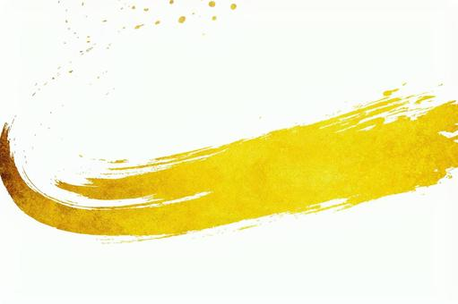 Gold leaf and abstract brush letters | Japanese style white background material