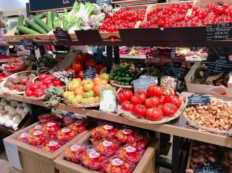 Vegetable display super tomato