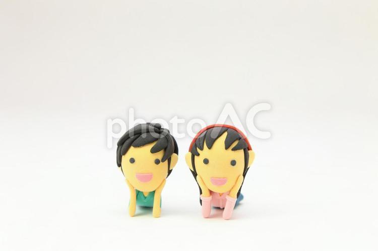 男の子と女の子2の写真
