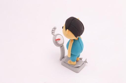Clay figurine metabolic person 6