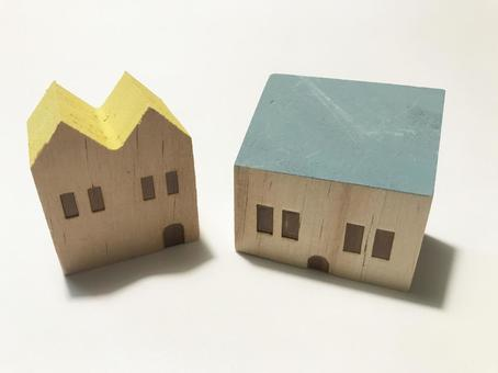 Wooden toy house, house image
