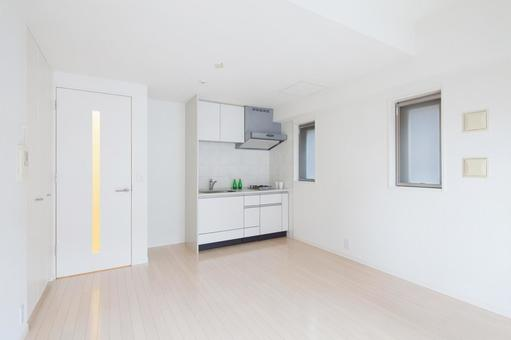 Kitchen in a studio apartment