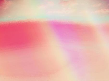 하늘의 가공 이상한 모양의 대기 빈 대기 환상적인 예술적 프리즘 무지개