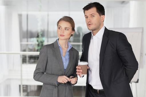 Businessman and business woman 10