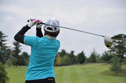 Golf girls swing