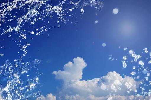 Blue Sky and Splash Series 08 | Free Sky Background
