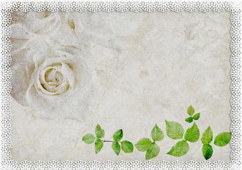 玫瑰_花边装饰框架