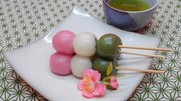 Three color dumpling 6