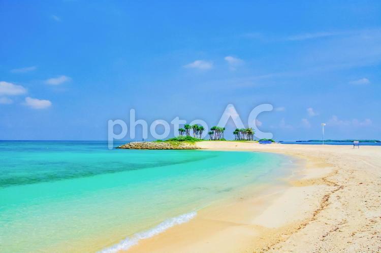 青空とビーチの写真