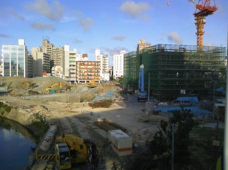 도시 개발 공사 현장