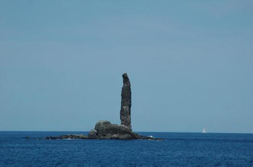 여름의 홋카이도 촛대 바위