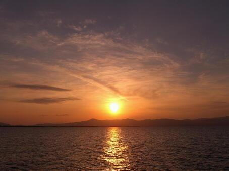 Sunset of Lake Biwa 002