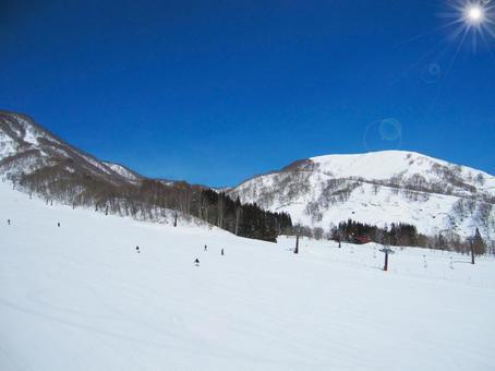 滑雪勝地斜坡背景(背景)0108