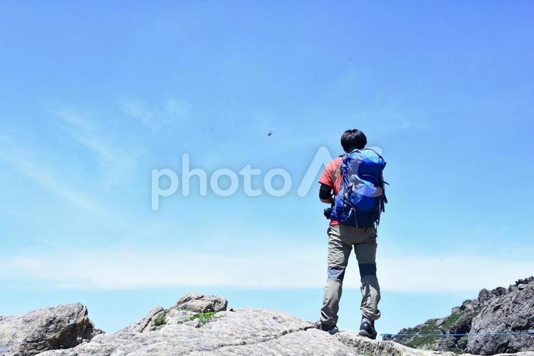 登山者の写真