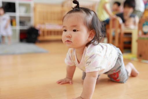 Baby 13 in a nursery school