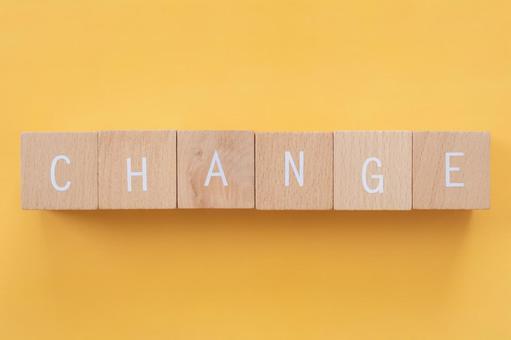 "Change, reform, improvement   Blocks with ""CHANGE"" written on them"