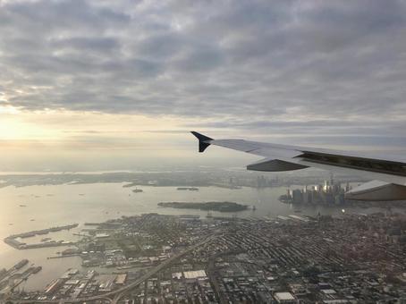 비행기에서 보이는 뉴욕 2