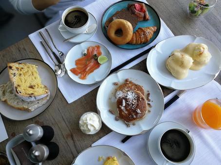 酒店早餐圖片
