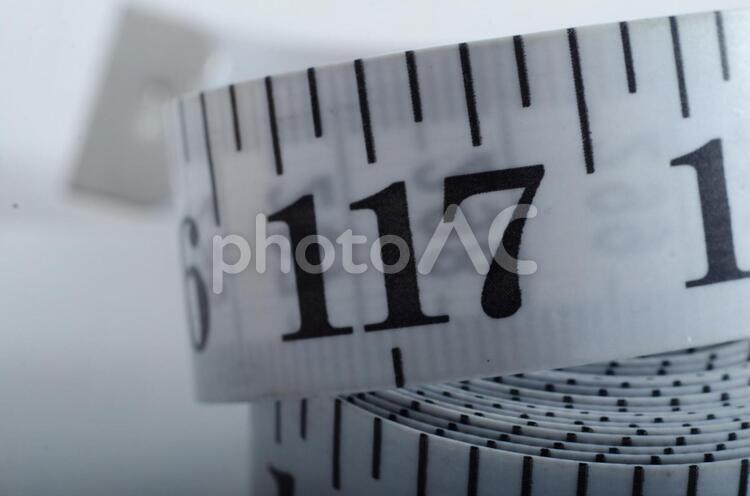 数字 メジャーの目盛り18の写真