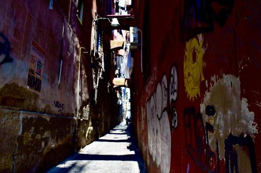 Alley in Naples, Italy