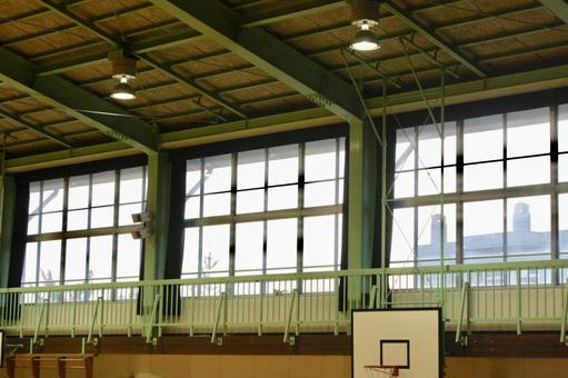 School gymnasium scenery