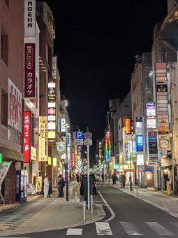Neon in Kokubuncho, Sendai