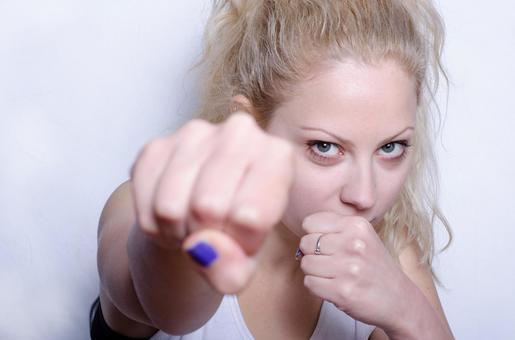 Serbian woman performing fitness 5