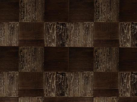 Wood grain checkered pattern background - dark