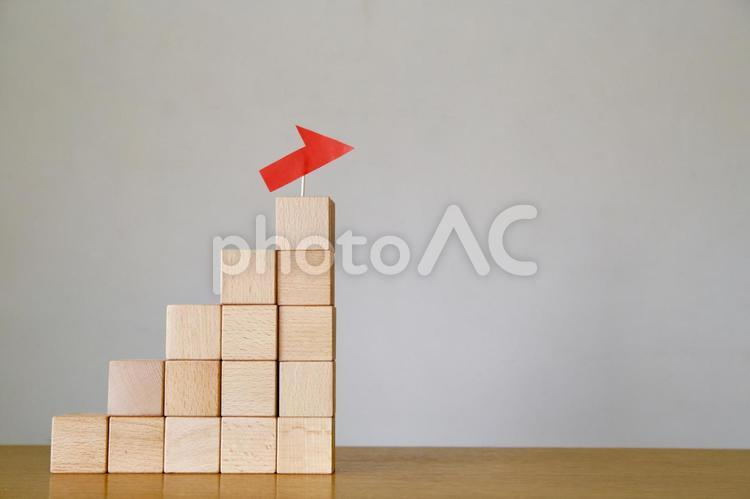積み木の階段の写真