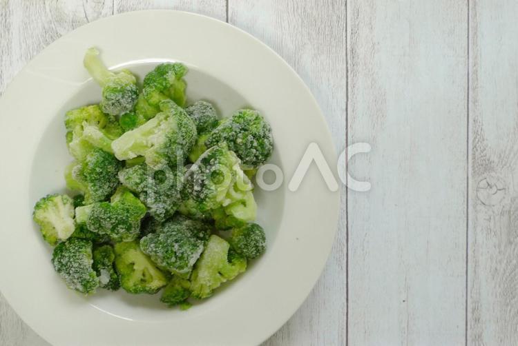 冷凍ブロッコリー2(真上から)の写真