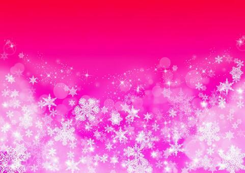 雪水晶纹理_粉红色