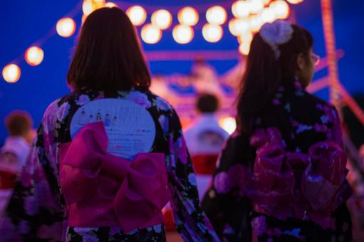 Summer festival Bon dancing 3