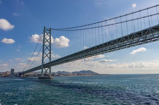 Akashi Kaikyo Bridge seen from the ferry