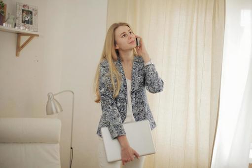 Female and smartphone 1