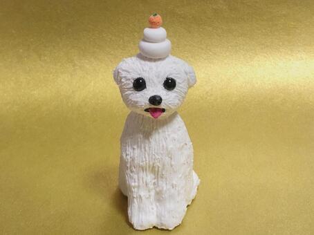 Kagami Mochi Doggy New Year
