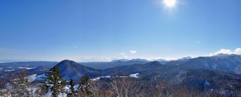 Climbing a mountain in Sapporo, Hokkaido