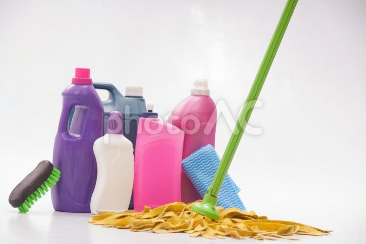 掃除 洗剤と掃除道具17の写真